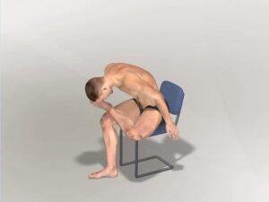 Vytočení levé nohy v sedu Dynamic
